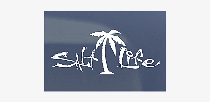 Stickers And Decals All - Salt Life Palm Tree Decal, transparent png #465389