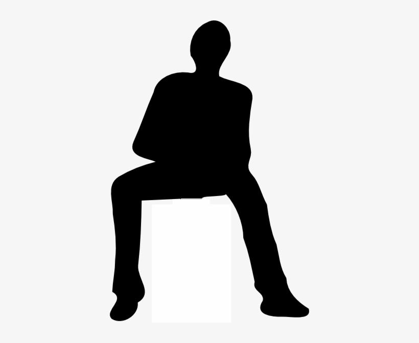 Svg Transparent Stock Clip Art At Clker Com Vector - Man Sitting Silhouette Png, transparent png #466478