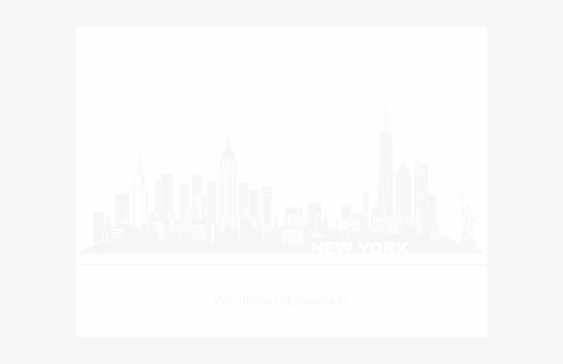 Tattoo City New York Ny - Nyc Skyline Outline With Freedom Tower, transparent png #466554