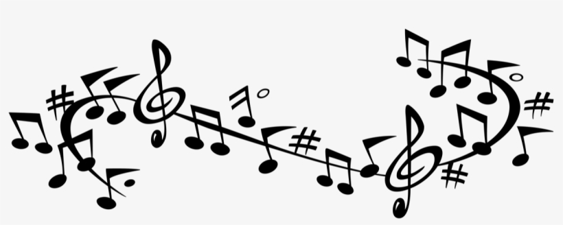 Music Vector Swirl - Musical Note Music Note Banner, transparent png #467604