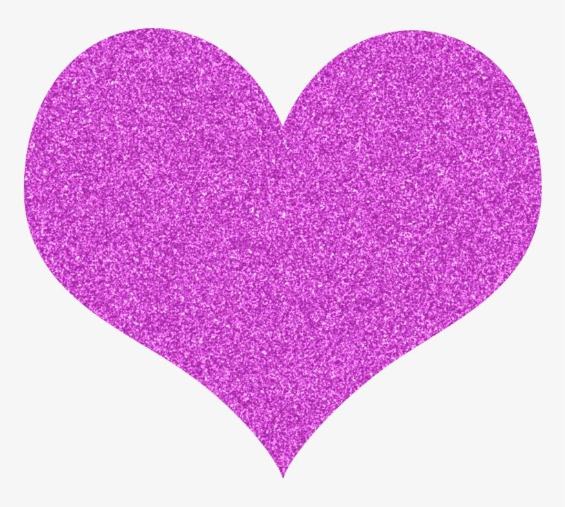 Free Glitter Hearts Clipart - Glitter Heart Clipart, transparent png #468852