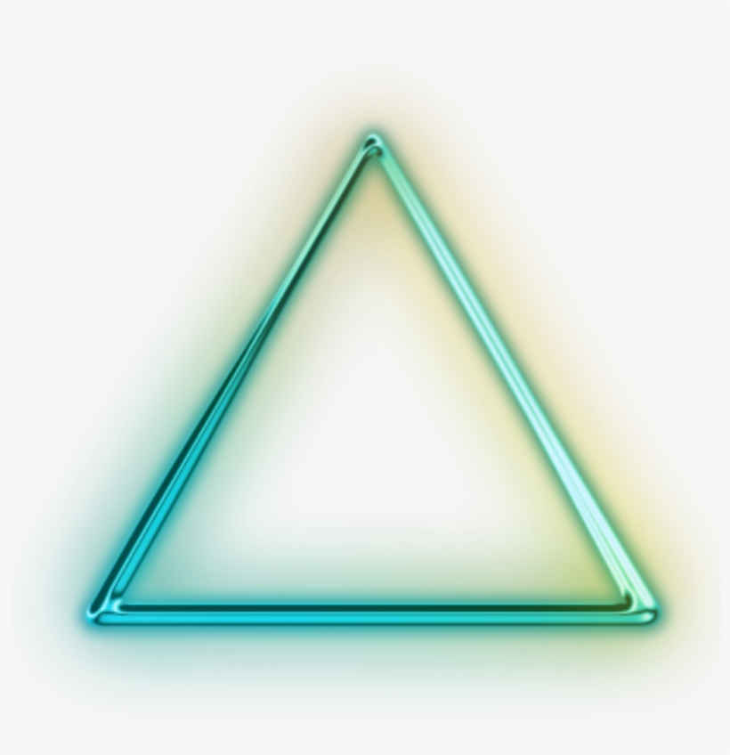 Transparent Neon Glowing Triangle - Triangle Neon Png For