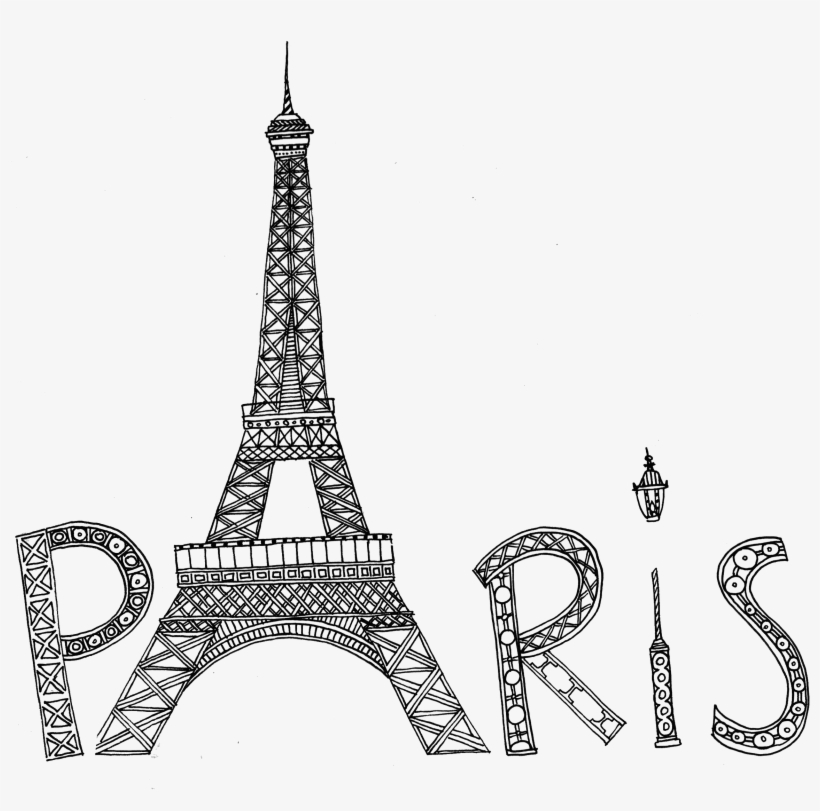 Eiffel Tower Silhouette Png Transparent Image - Cute Paris Coloring Pages, transparent png #4606094