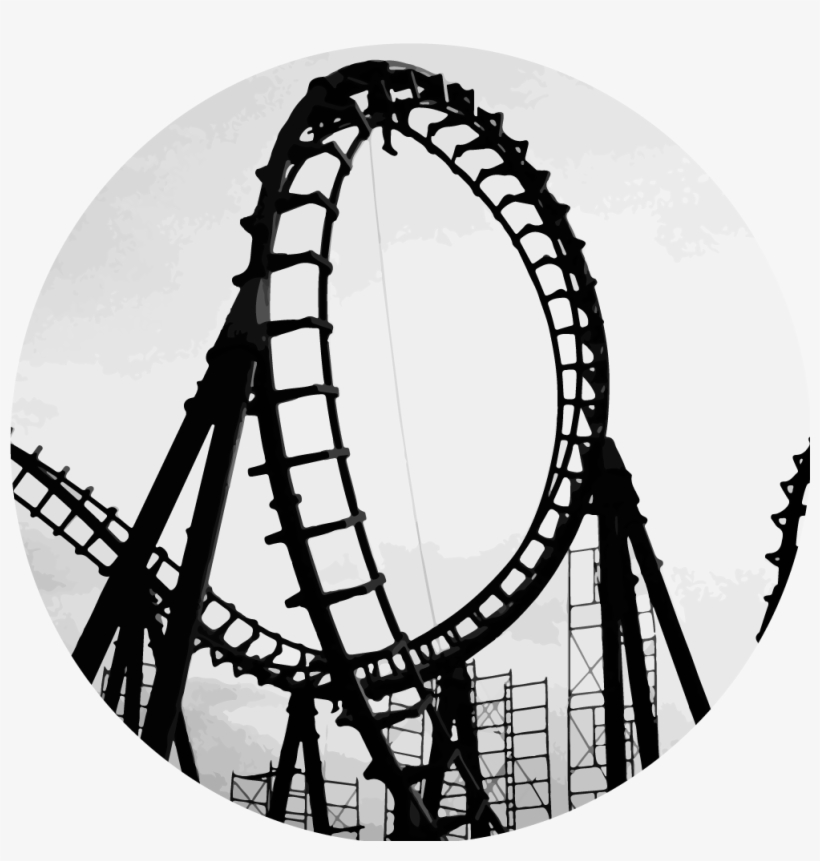 Roller Coaster Png - Roller Coaster Drawing Easy - Free ...