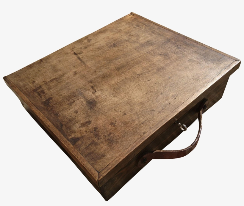 Stunning English Antique Stained Solid Oak Artists - Coffee Table, transparent png #4617508