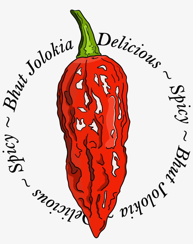 Bhut Jolokia Chili Pepper Spicy - Chili Pepper, transparent png #4617760