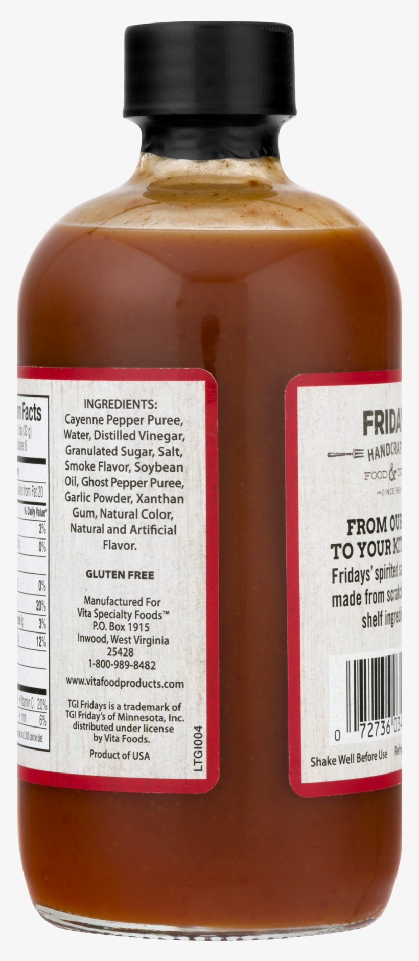 Tgi Friday Ghost Pepper Sauce, - Glass Bottle, transparent png #4618388