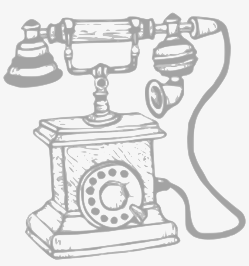 Svg Black And White Clipart Big Image Png - Drawing Old Mobile Phone, transparent png #4619628
