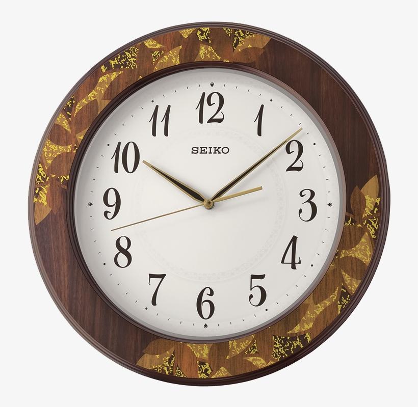 Seiko Wall Clock (47.5 Cm X 47.5 Cm X 5 Cm, Brown), transparent png #4622023