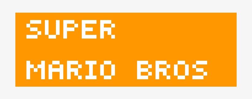 Homemade Super Mario Bros Logo Deadmau5 Pixel Art Free