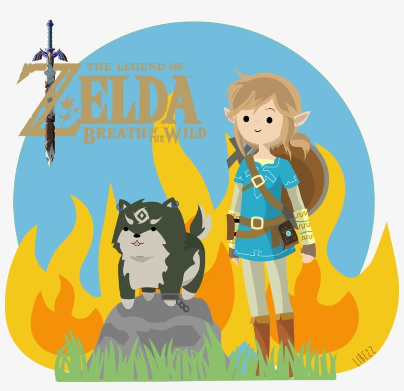 Only 19 Days Remaining Until Legend Of Zelda - Link And Wolf Link Botw, transparent png #4630486