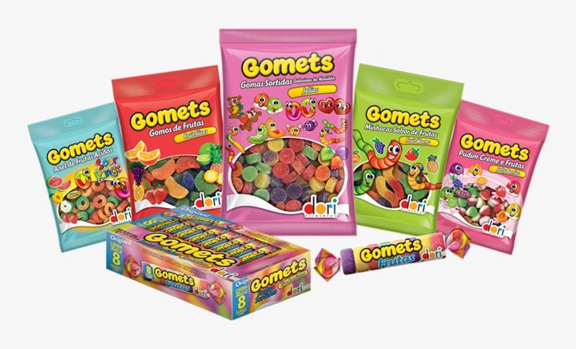 Packshots Gomets 2 - Bala De Goma Tubo Frutas C/30 - Dori, transparent png #4639251