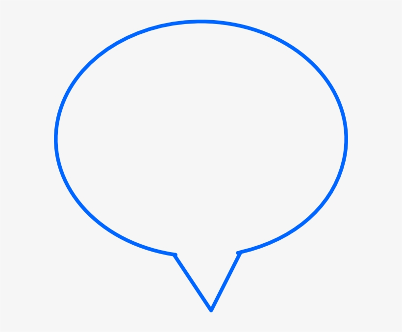 Blue Outline Speech Bubble, transparent png #4640641