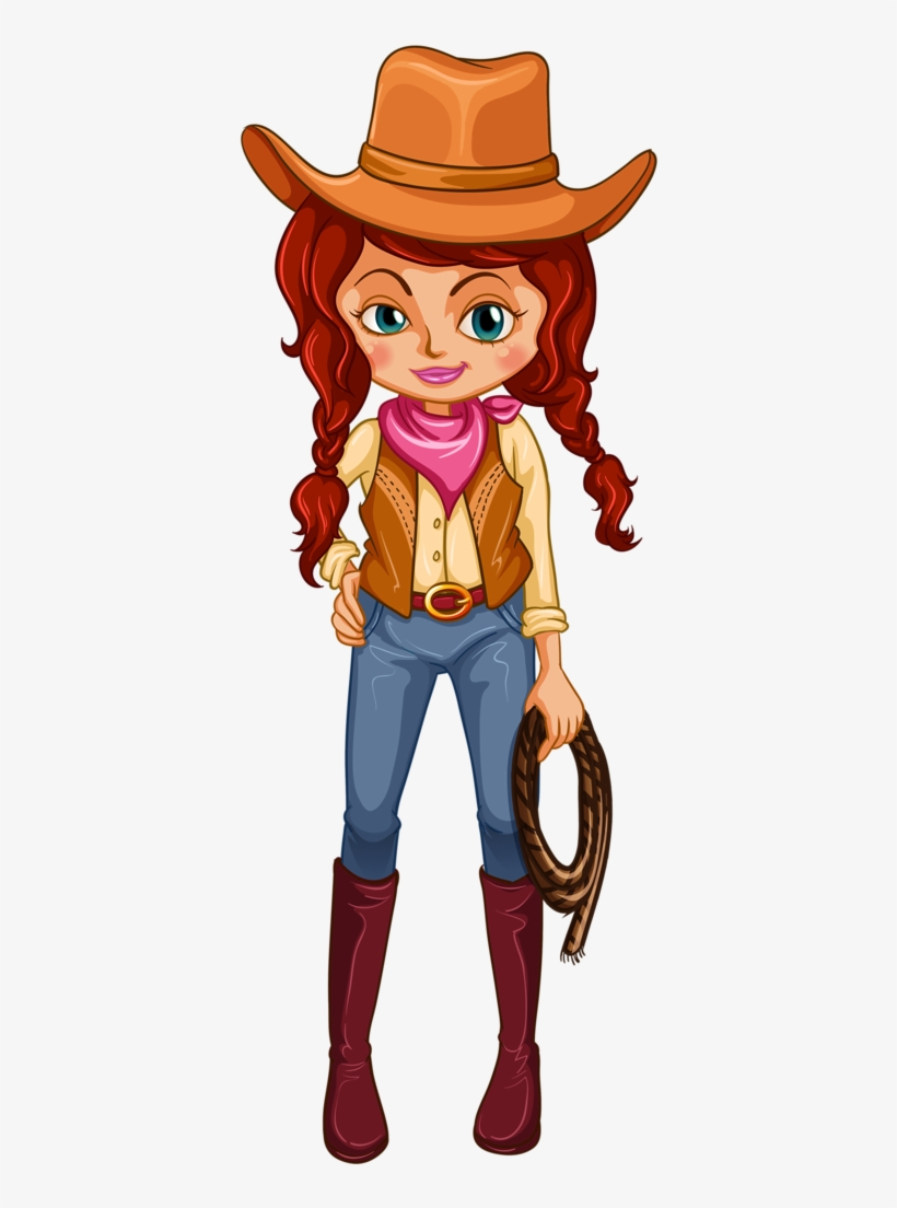 Cowboy E Cowgirl Cowgirl Cartoon Characters Png Free
