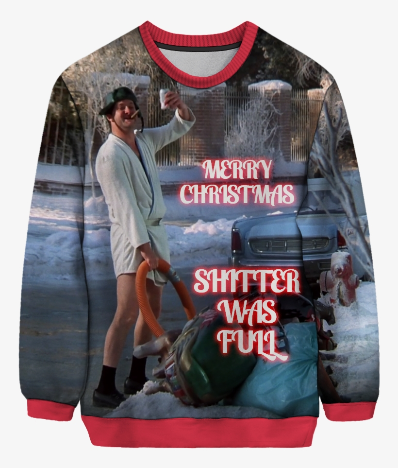 Shitter Was Full Sweater Mechanic Themed Ugly Christmas Sweater