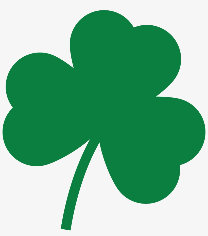 free clipart of a st paddys day solid green shamrock st