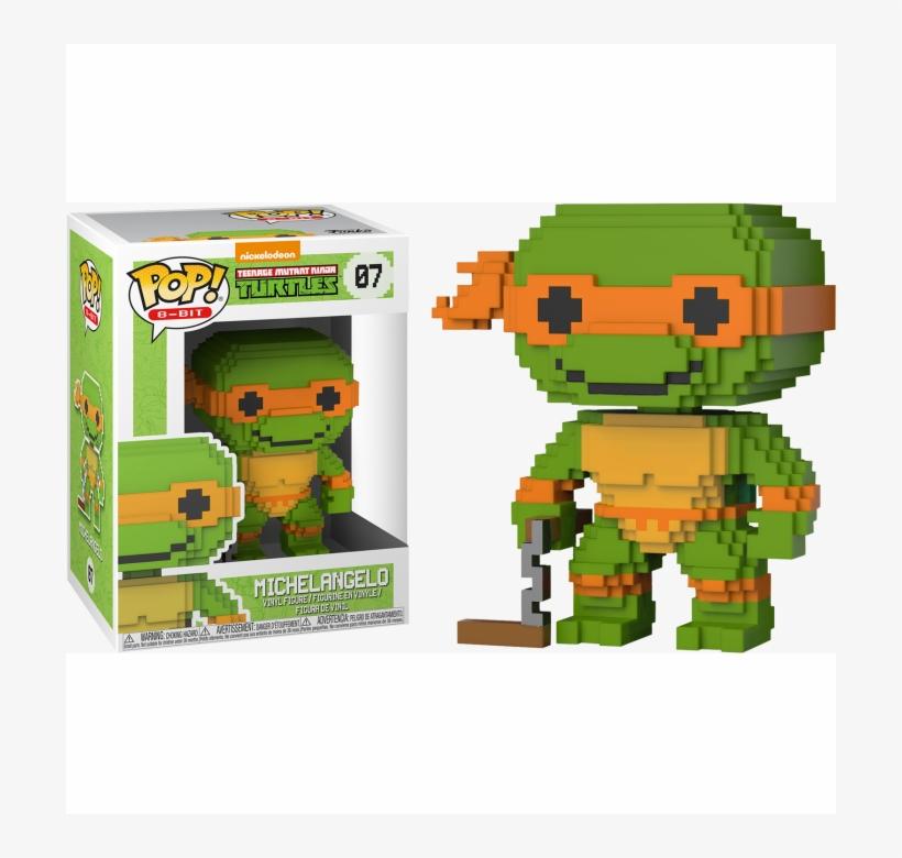 Figure Funko Pop 8-bit Michelangelo The Teenage Mutant - Baxter Stockman - Pop! Vinyl Figure, transparent png #4655941