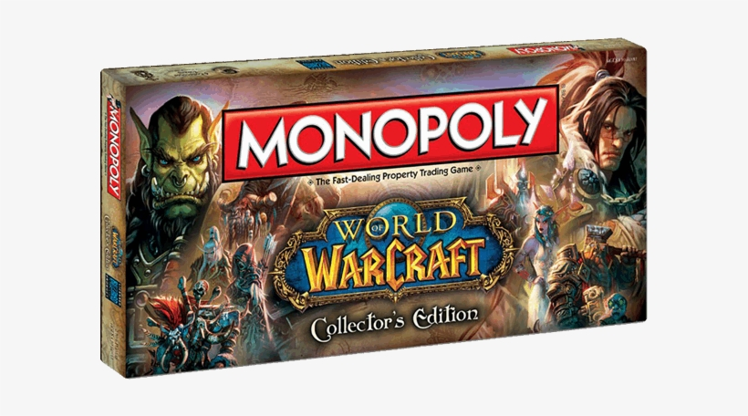 1 Of - Monopoly Board Game, World Of Warcraft Collectors Edition, transparent png #4660532