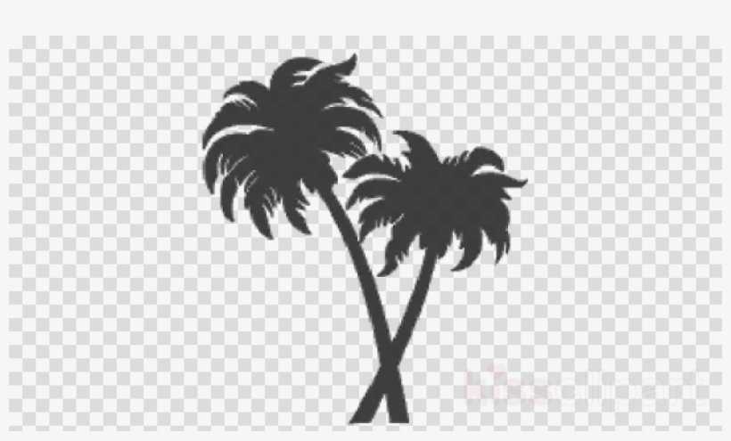 Download Silhouette Two Palm Tree Png Clipart Palm - Silhouette Palm Trees Png, transparent png #4662564