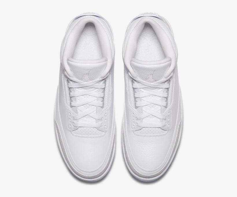 online store ce399 f95f3 Air Jordan 3 Pure White On Feet - Free Transparent PNG ...