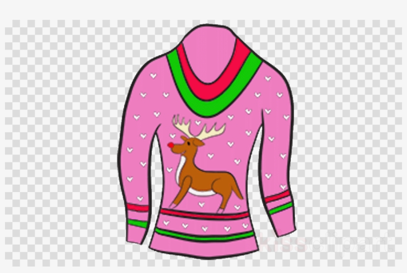 Ugly christmas sweater pink. Download clip art clipart