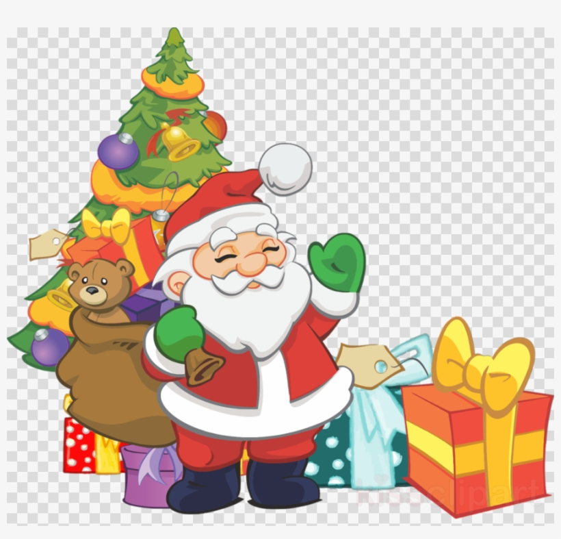Download Thanksgiving Coloring Books For Kids Clipart - Clip Art Santa And Christmas Tree, transparent png #4672199