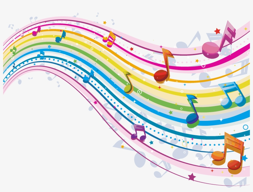 Related Pictures Musical Notes Border Clip Art Car - Musical Notes In Colour, transparent png #4680047