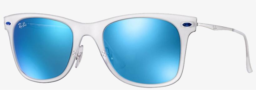 Ray Ban Bleu Mat - Ray-ban Wayfarer Light Ray Rb4210 646/55 50, transparent png #4687940