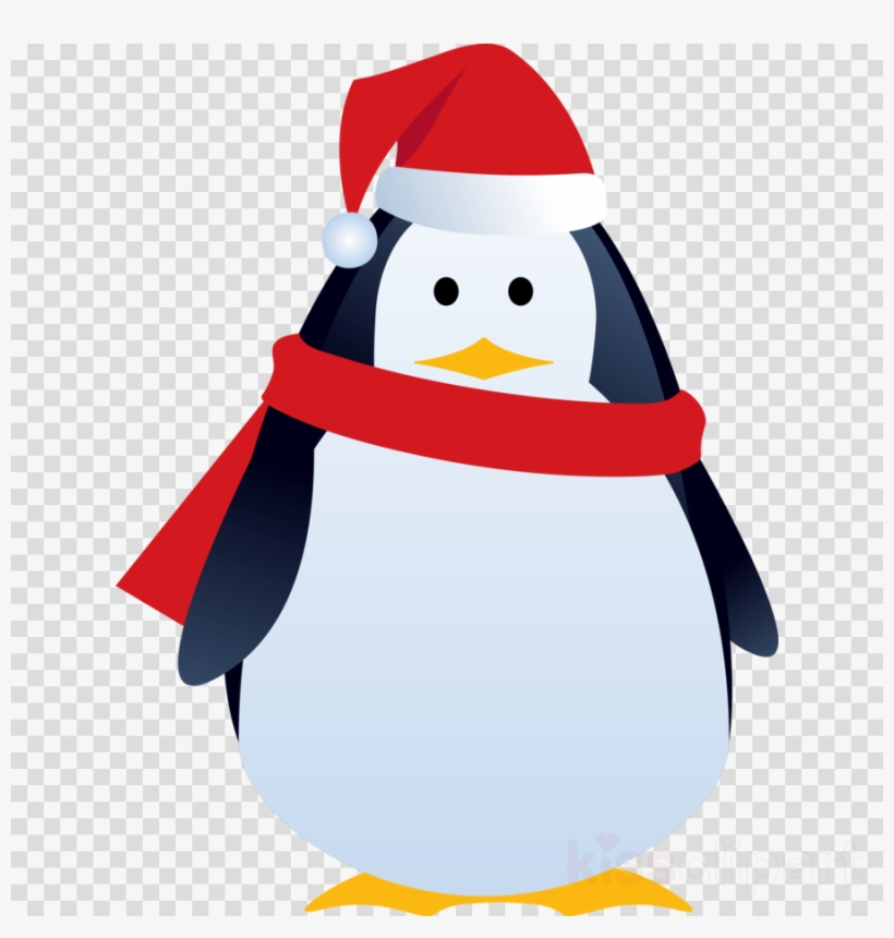 Christmas Penguin Png Clipart Penguin Santa Claus Clip - Christmas Penguin Gift Greeting Card, transparent png #4689737
