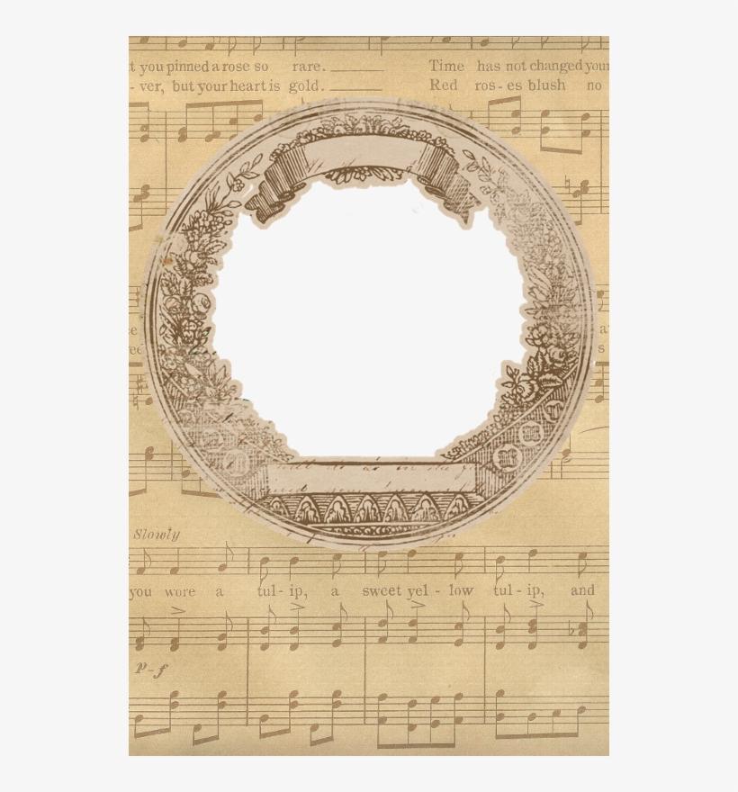 Vintage Sheet Music Frame ~ Zibi Vintage Scrap Vintage - Music Vintage Frames, transparent png #4693076