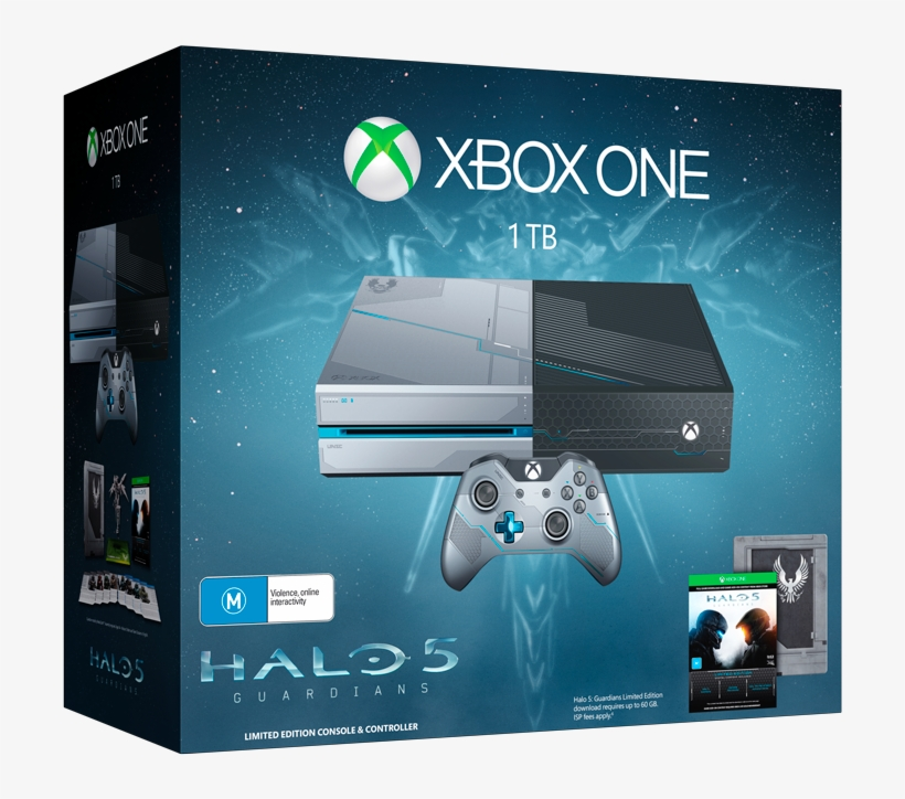 A Brand New 1tb Xbox One With Halo - Xbox One S Halo Bundle, transparent png #4696210