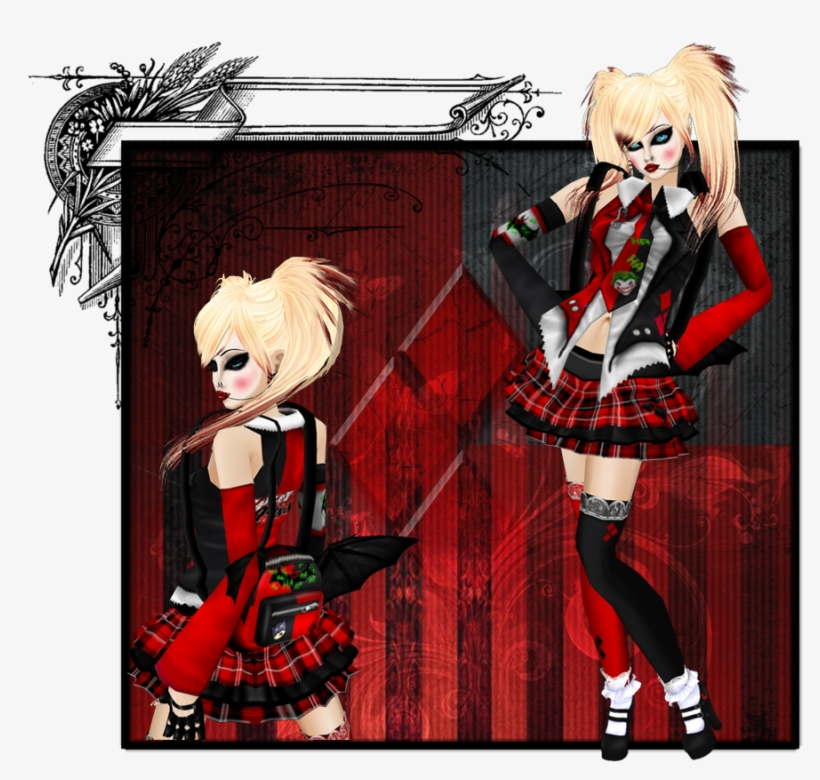Harley Quinn School Uniform I Made For Imvu - School Girl Harley Quinn, transparent png #4697673