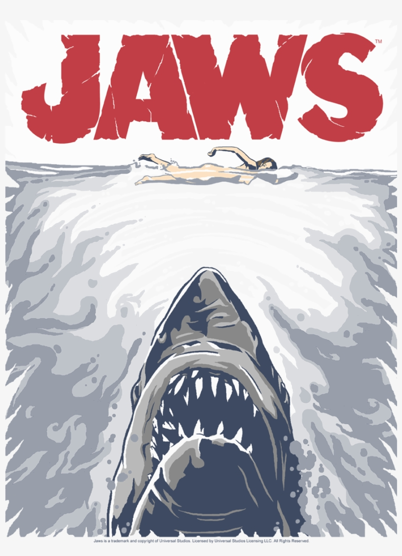 jaws graphic poster women 39 s t shirt jaws poster free. Black Bedroom Furniture Sets. Home Design Ideas