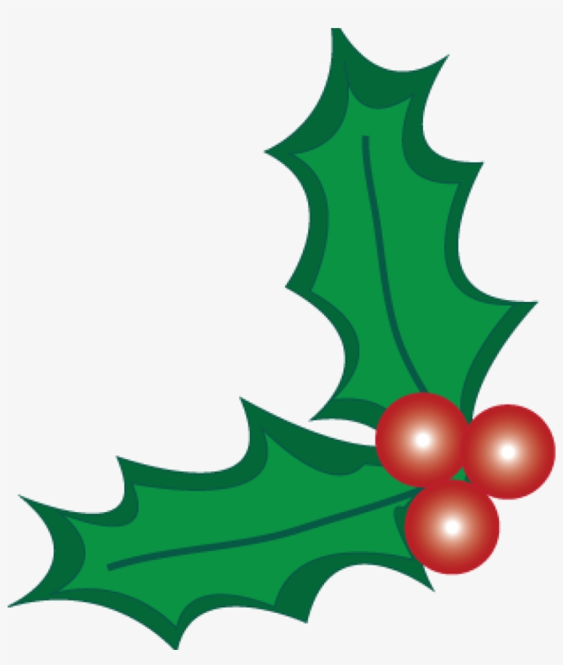 Holly And Berries Clip Art Christmas Holly Berry Clipart - Holly Clipart No Background, transparent png #471006