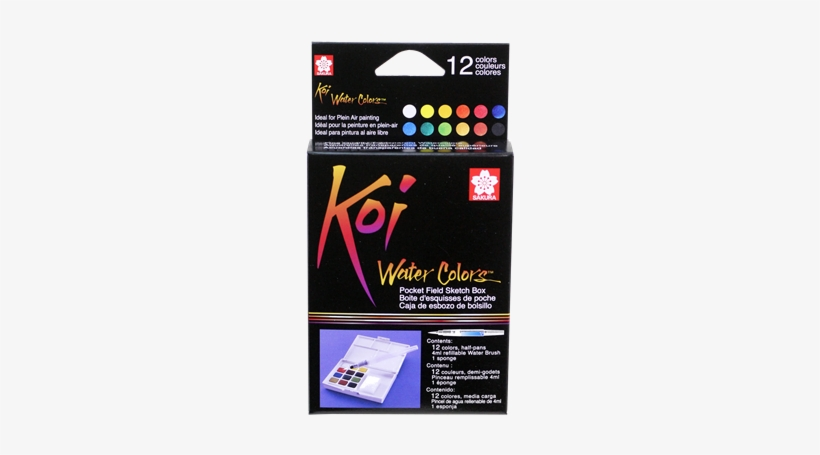 Skxncw 12h Sakura Koi Water Color Pocket Field Sketch - Koi Water Brush Set, transparent png #471680
