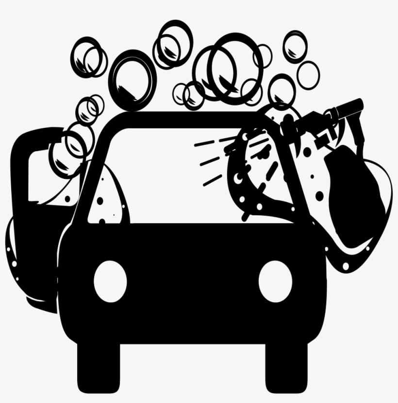 Standard Car Wash Svg Png Icon Free Download - Car Wash Clip Art Black And White, transparent png #471758