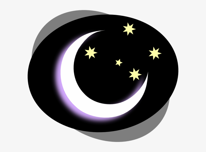 Moon night. Clipart free transparent png