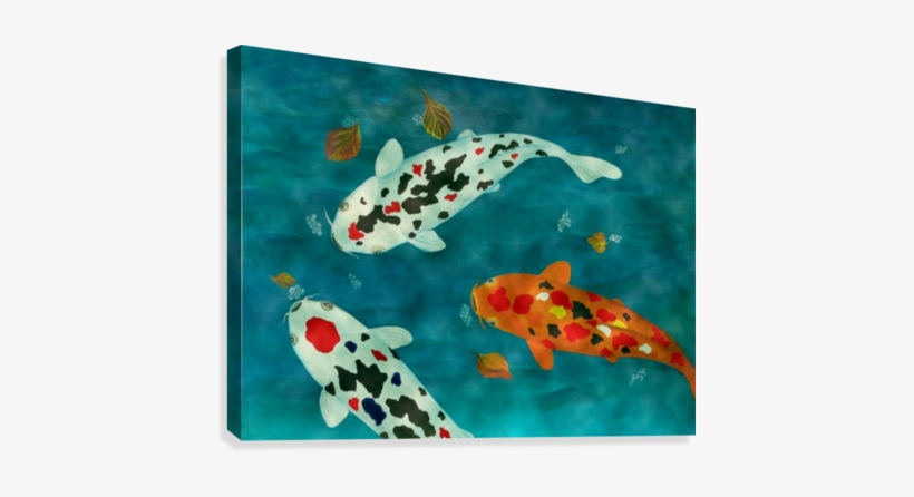 Playful Koi Fishes Original Acrylic Painting Canvas - Playful Koi Fishes Original Acrylic Painting, transparent png #472564
