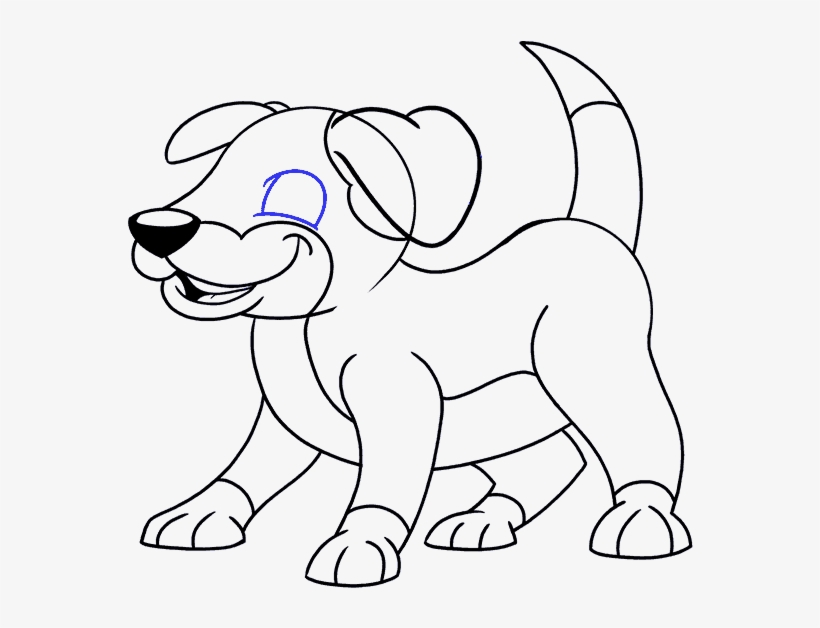 How To Draw A Cartoon Dog Easy Drawing Guides Puppy Drawing Easy