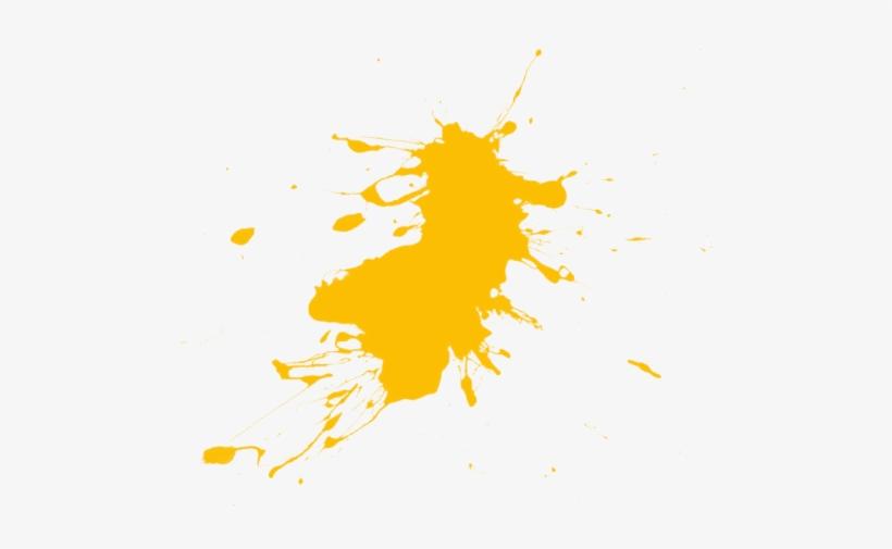 Orange Paint Splatter Splat Pictures Clipart - Yellow Paint Splatter Png, transparent png #473432