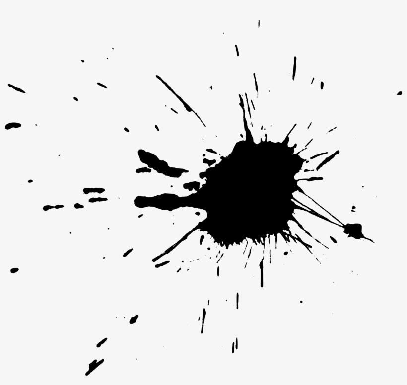 Free Download - Black Paint Splash Transparent, transparent png #473655