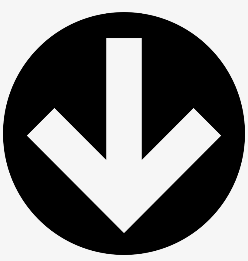 Down Arrow In Circular Filled Button Comments - Down Arrow Button Png, transparent png #473749