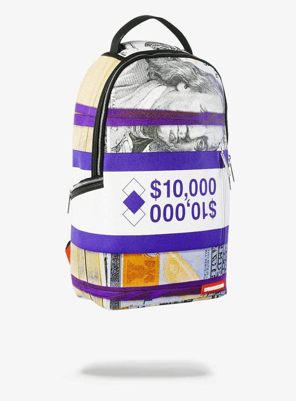 Sprayground Purple Money Bands Backpack Sprayground - Girl Money Sprayground Backpack, transparent png #474530