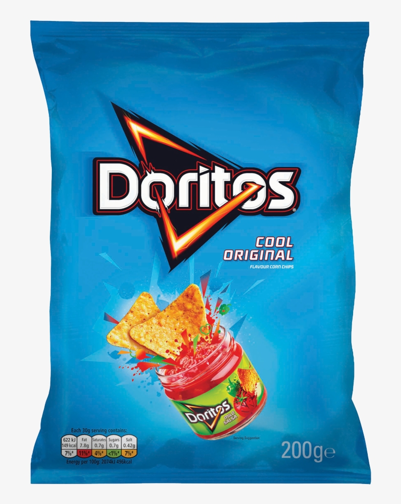 Doritos Cool Original Flavour Corn Chips 200g - Cool Doritos, transparent png #475714