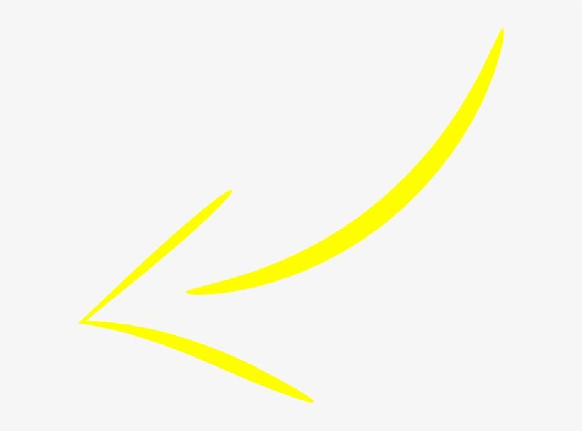 Left Clip Art At Clker Com Vector - Yellow Curved Arrow Png, transparent png #475973
