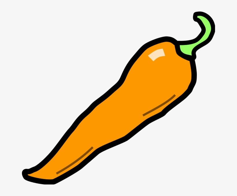 File Chilli Pepper Wikimedia - Orange Chili Pepper Clipart, transparent png #477411