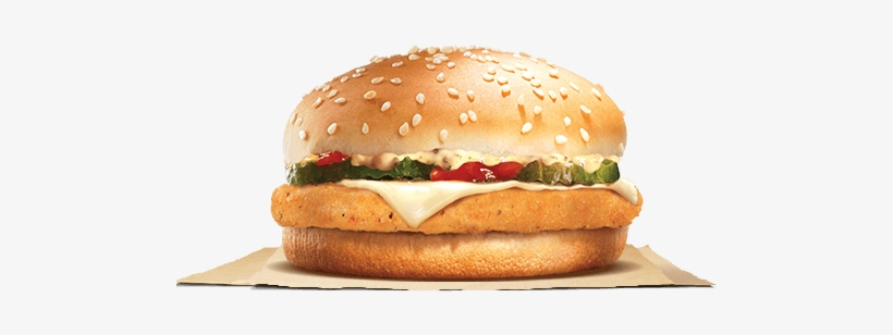 Hot Breaded With Spice - Burger King Kids Chicken Burger, transparent png #477474
