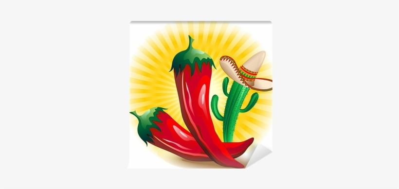 Peperoncino Piccante Messico Red Hot Chili Pepper Mexico - Chili Pepper, transparent png #477784