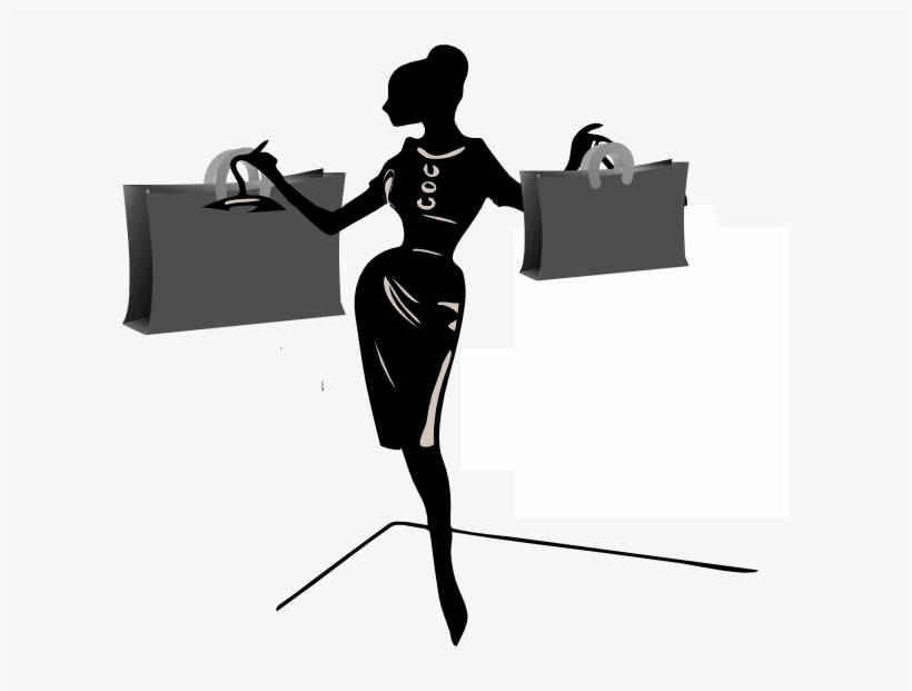 Lady Shopping Clip Art At Clker - Png Lady Shopping, transparent png #478399