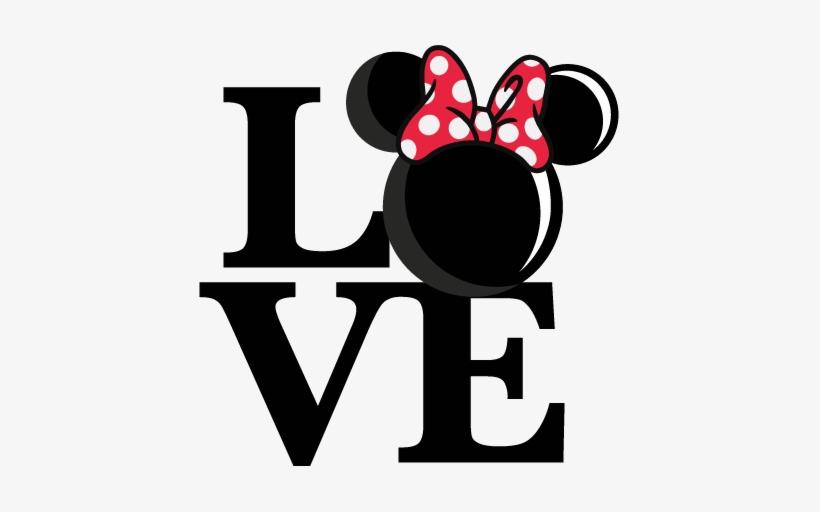 Love Mouse Girl Title Svg Scrapbook Cut File Cute Clipart - Disney Letter Svg Files For Cricut Free, transparent png #478654